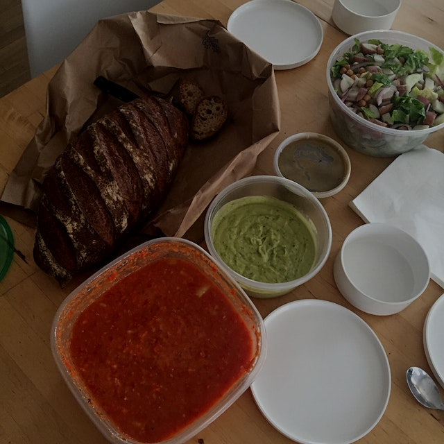 Homemade lunch made for under $60 for our team of 8 by our amazing studio manager Mia!   Salad + ...
