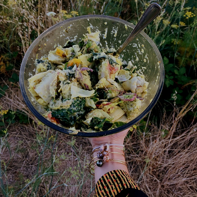 Mamma came to town so we decided to picnic! Pesto Potato Salad?? Why not?? Done in 30 minutes, gr...