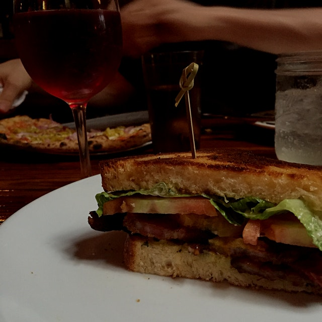 After 2 weeks away, I dreamed of a perfect BLT on the plane. It would have heirloom tomatoes, hom...
