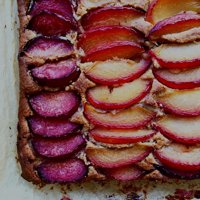 Gluten free almond plum cake