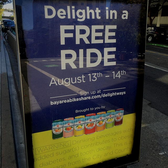 Well, here's the first updated ad I've seen (and tied to free bike rides, of all things!). San Fr...