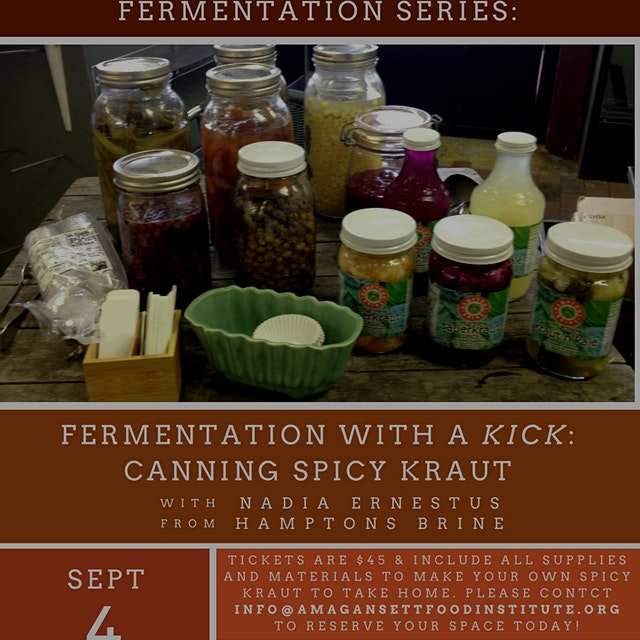 Join the Amagansett Food Institute to learn about the applications and health benefits of ferment...