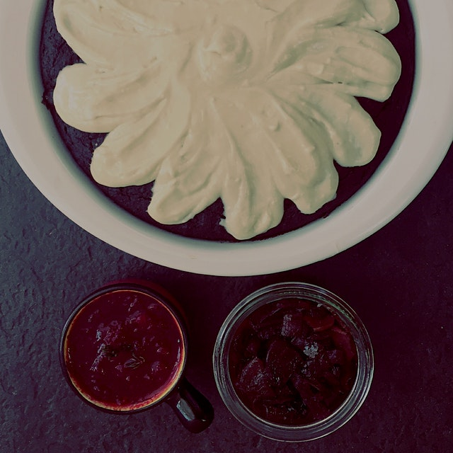 A larger than expected grocery delivery of beats led to: beet marmalade, beet chocolate cake & be...