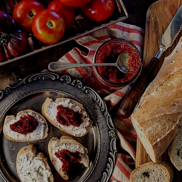 """""""Tomato Jam. Yep, it's a thing. And it's real yummy. You know how we love our red pepper jelly..."""