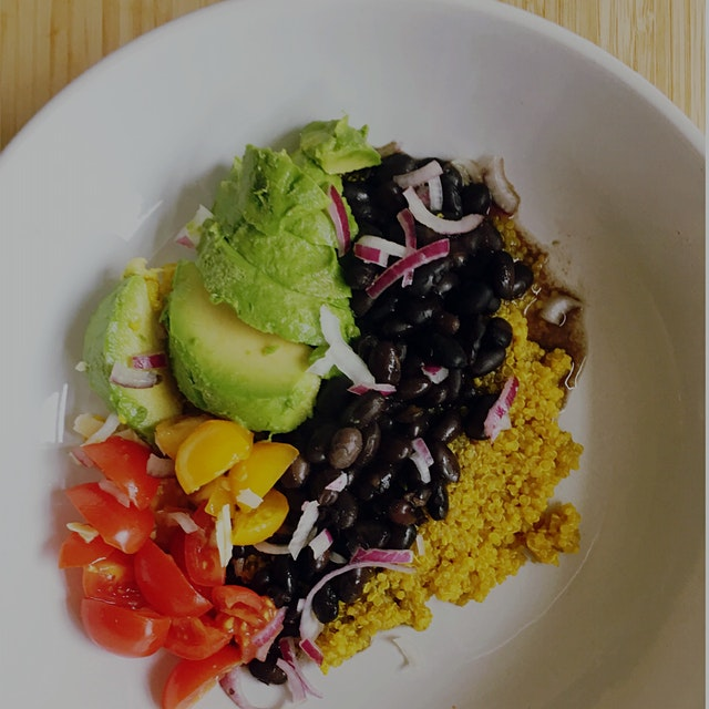 I cooked the quinoa with turmeric and cumin, and the flavor is fantastic. Black beans cooked with...