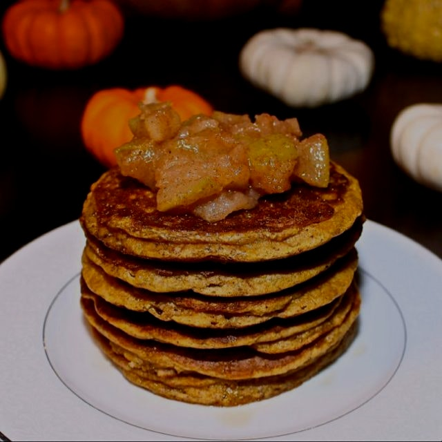 Paleo Pumpkin Pancakes from www.GreatFoodLifestyle.com. Yum!