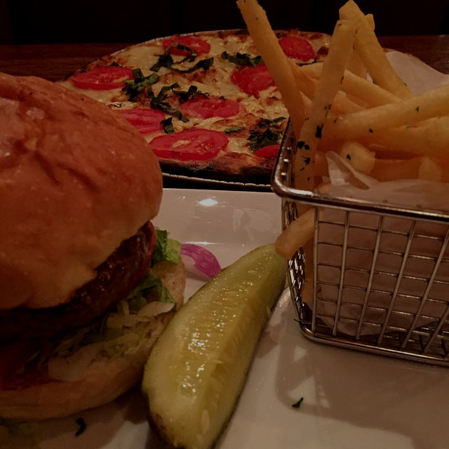 Yeah... pizza and a hamburger is not adventurous, but it was fun.