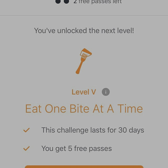 Day14/14 Level 4 Eat one bite at a time To change to another challenge or take on Level 5? Sugges...