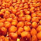 Roasted chickpea snack. Dry roast for 30 minutes at 400°. Toss with salt, curry powder (or whatever seasonings you prefer) and a teeny scoash of olive oil. Then roast for another 30 minutes. So #crispy #salty #good I bet you'll eat 'em all in one go. PS watch them closely in the last 10 minutes so they don't burn. #auriasmalaysiankitchen #thesamballady #chickpeas #foodpics #nomnom #yum #buzzfeast #eatthemall #didIuseenoughhashtags