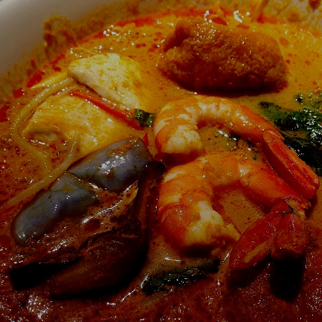 Curry laksa - the version I'll be making for you will have mussels instead of shrimp and gorgeous...