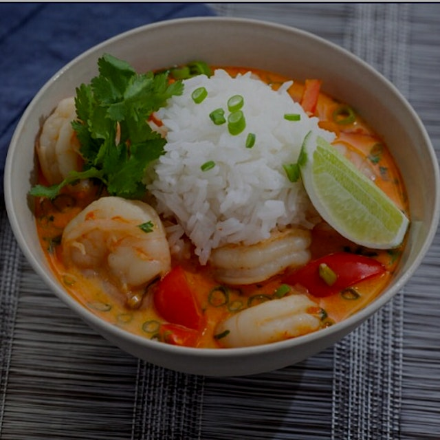 Ingredients: 8 Ounces Shrimp ½ Cup Jasmine Rice 1 13.5-Ounce Can Unsweetened Coconut Milk 2 Clove...