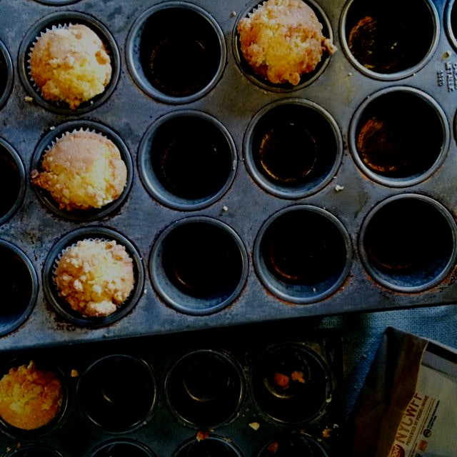These pumpkin corn muffins were clearly a hit. #lategram at the #nycwff brunch
