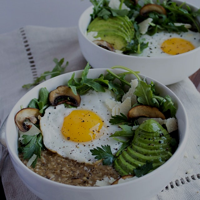 """""""This hearty and satisfying savory oatmeal recipe is sure to become your new favorite breakfast -..."""