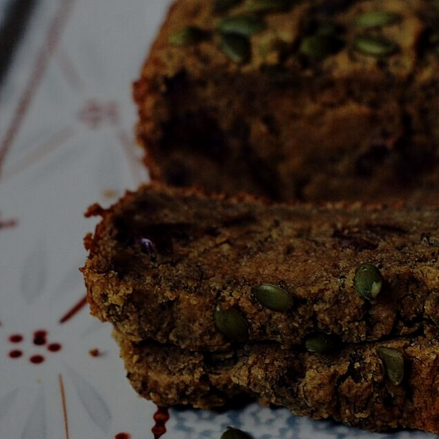 Banana, Pumpkin & Date bread. Gluten-free and no refined sugar! On the blog- Foodbymars.com
