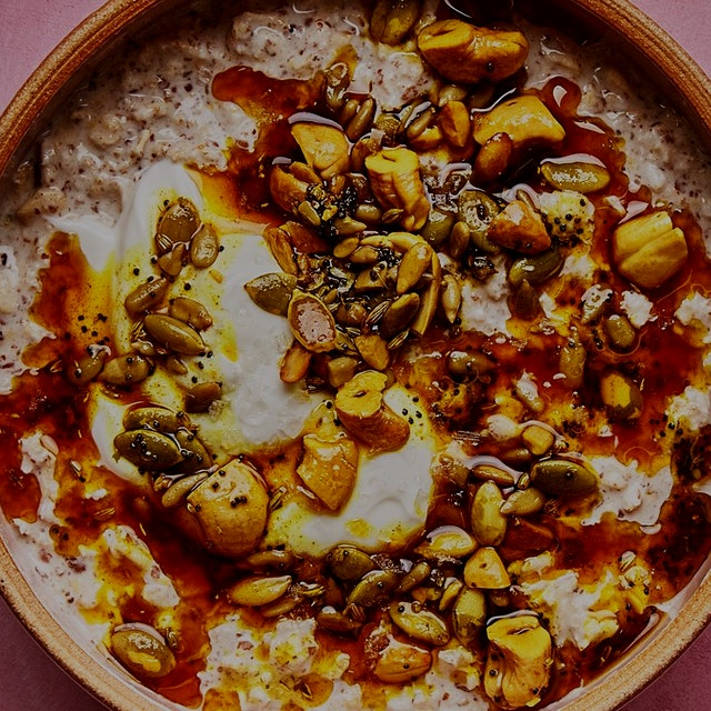 """This sizzled seed and cashew mixture is delicious sprinkled over dip and soups, so you might wan..."
