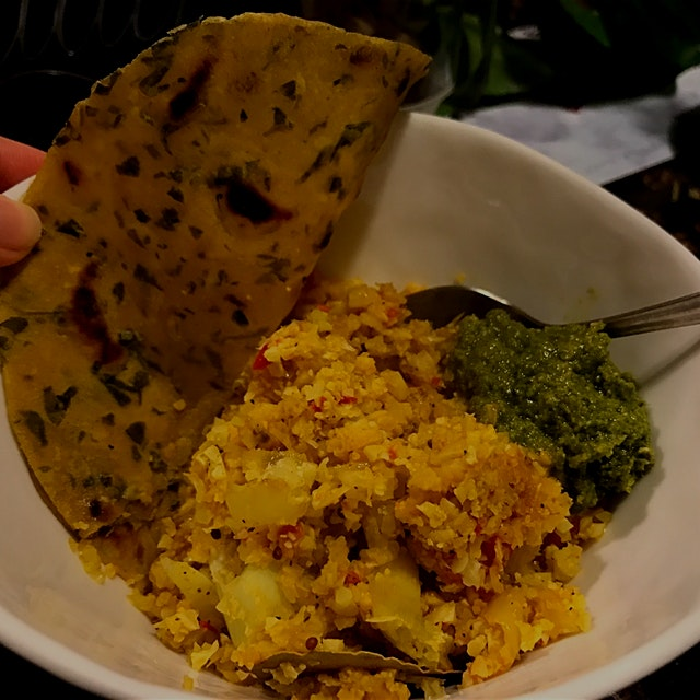 Day 6/14: Eat Real Food Level III I just used a good processor to grind up cauliflower and preppe...