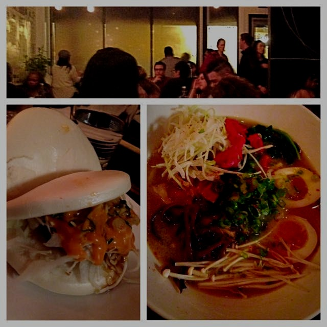 When the windows fog up, you know it's time for #Ramen! #VegetarianRamen & #ShrimpTempuraBuns. Pe...