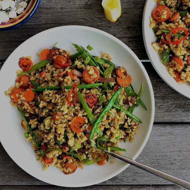 Veggie Scrap Freekeh