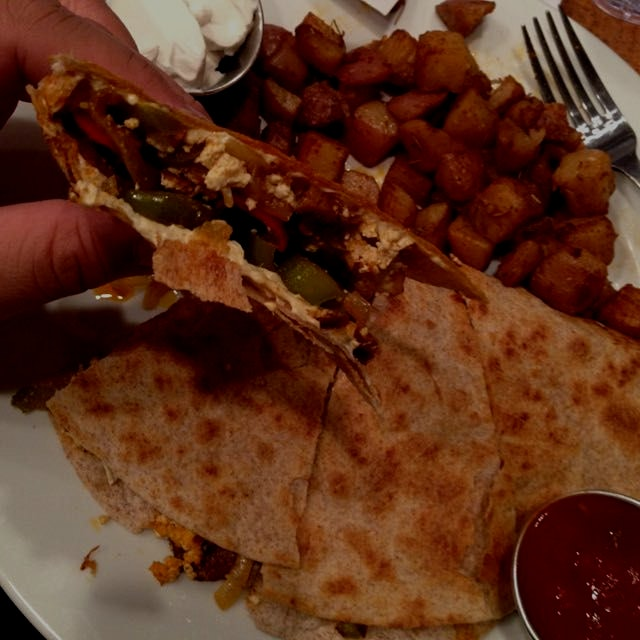 #SantaFeQuesadilla from my favorite #breakfastjoint. They offer #yumdelish breakfast & lunch item...