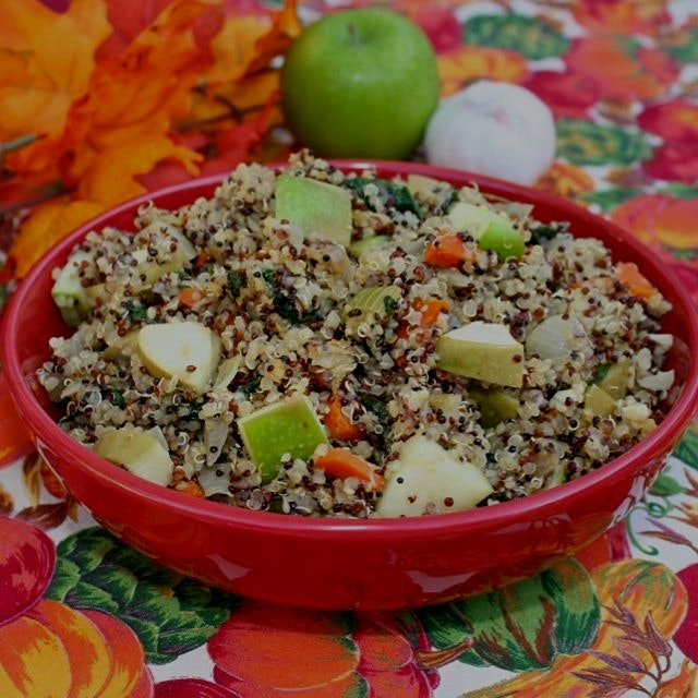 Vegetable Quinoa Stiffing. 🍁🍁❤️🍂🍂 Gluten and dairy free, vegan. Click on www.GreatFoodLifestyle.c...