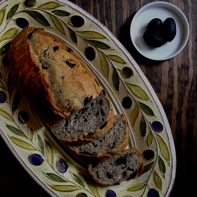 Vegan Cerginola Black Olive & Rosemary Bread