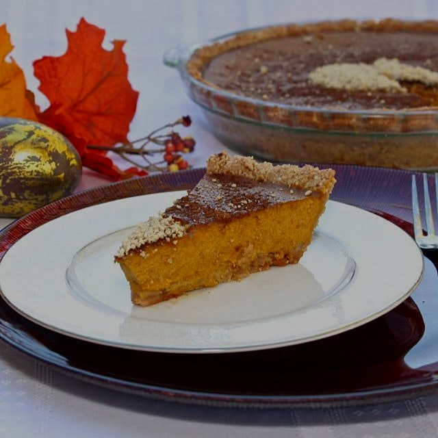 Honey'd Paleo Pumpkin Pie from www.GreatFoodLifestyle.com. Delicious, gluten and dairy free, easy...