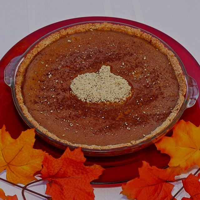 Here's another shot of the Honey'd Paleo Pumpkin Pie from yesterday. Find it at the link in my bi...