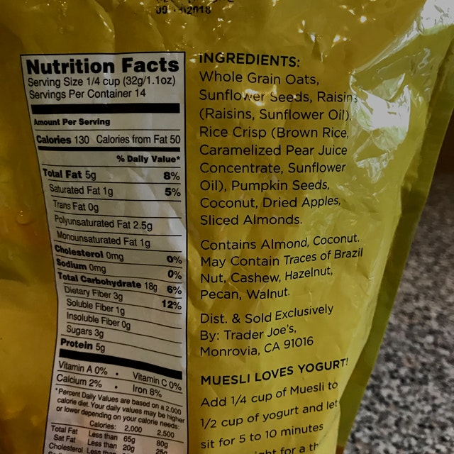 It says 3 grams of sugar, but I don't see sugar in the ingredients unless it's disguised as somet...