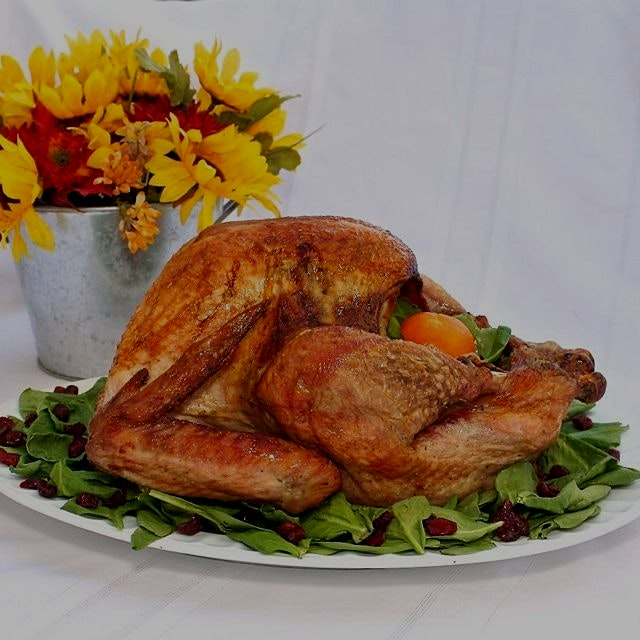 Herb Roasted Turkey from www.GreatFoodLifestyle.com. Beautiful, delicious centerpiece for Thanksg...
