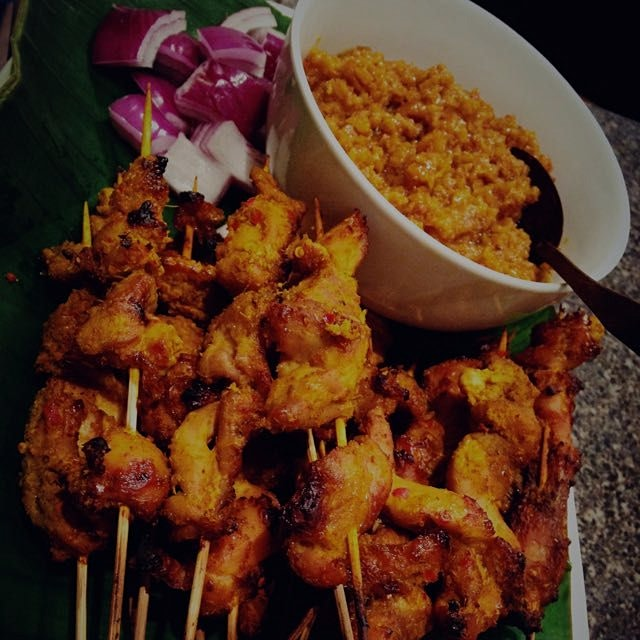 Chicken satay - following a popular local recipe from my hometown, Seremban. #thesamballady #auri...