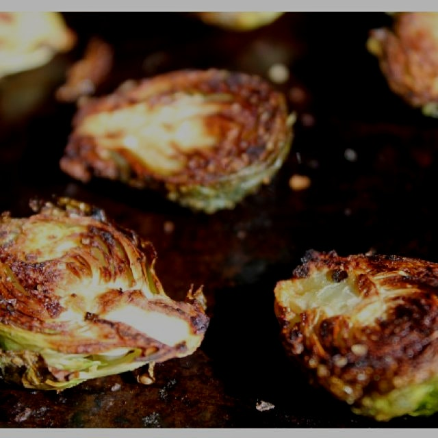 Perfectly roasted brussel sprouts. Our favorite snack