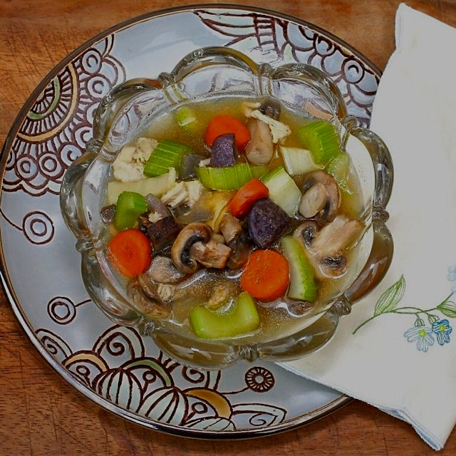 Leftover Turkey Soup is a delicious, healthy way to use up your holiday turkey! Find it on www.Gr...