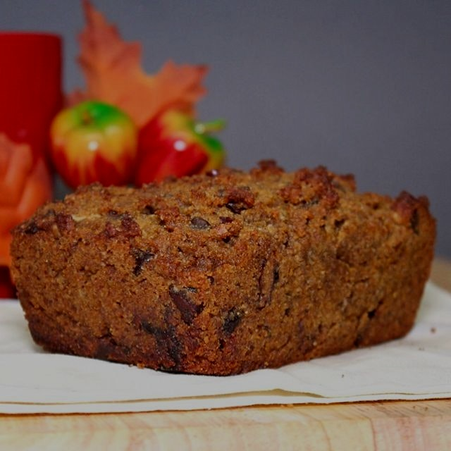 Here's the Paleo pumpkin bread from www.GreatFoodLifestyle.com, baked in a mini loaf pan. Yum! 🎊😋🎉
