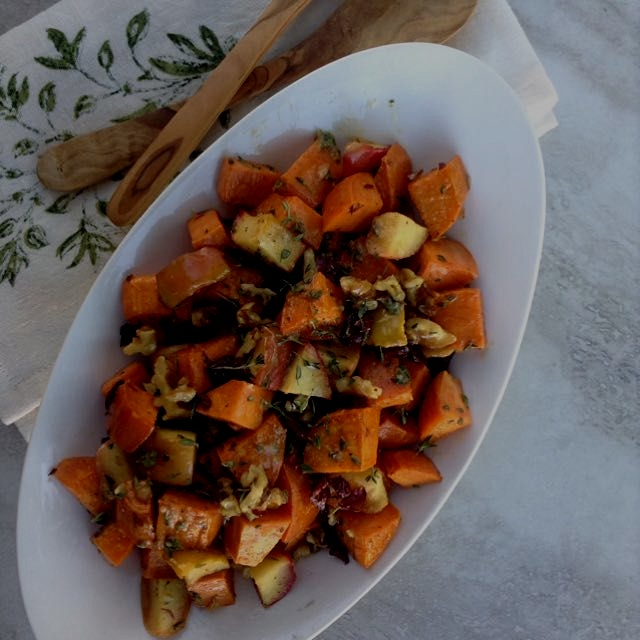 Warm fall salad full of delicious flavors and textures!
