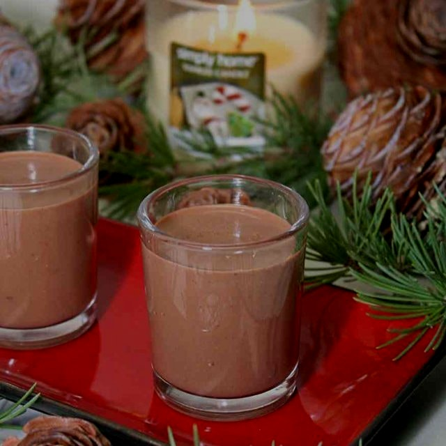 Paleo Peppermint Hot Cocoa is a healthy, cozy treat for the holidays! Dairy free. Www.GreatFoodLi...