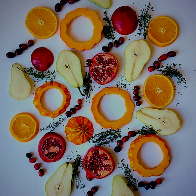 The colors of organic food in December!