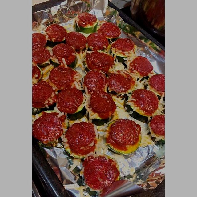 My homemade zucchini pizza 🍕