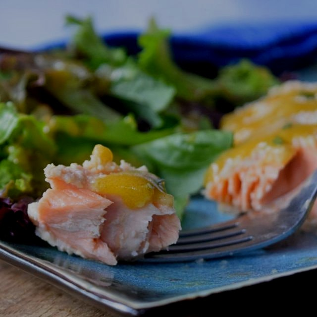 Gluten free crusted salmon with honey mustard sauce. Healthy dinner from www.GreatFoodLifestyle.c...