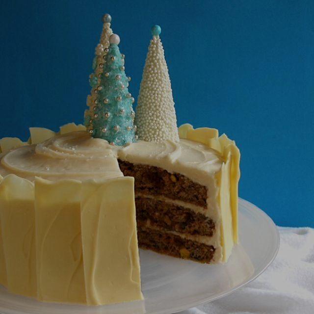 Just baked! Our Nouveau Christmas Fruitcake! Bakes with applesauce!