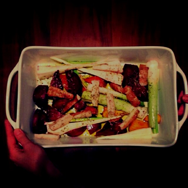 Roasted winter veggies #winter #csa