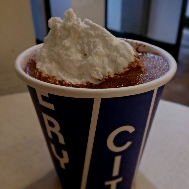 This just happened. Free City Bakery hot cocoa with mallow all day today, courtesy of Lululemon (...