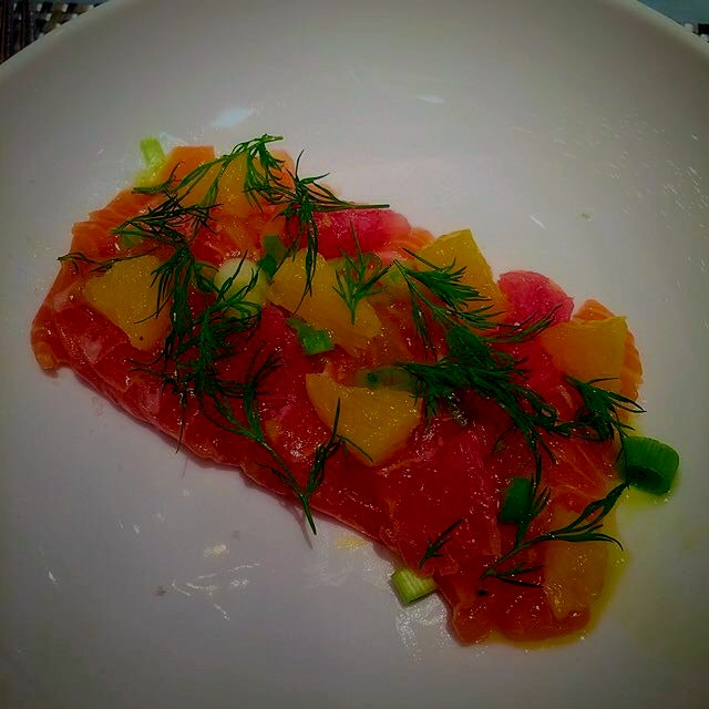 Salmon Crudo is so refreshing. I could eat this everyday!