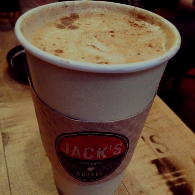 Christmas in a cup at Jack's.