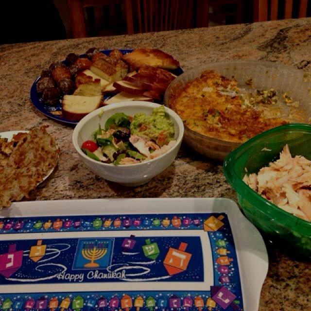 Happy Hanukkah party leftovers