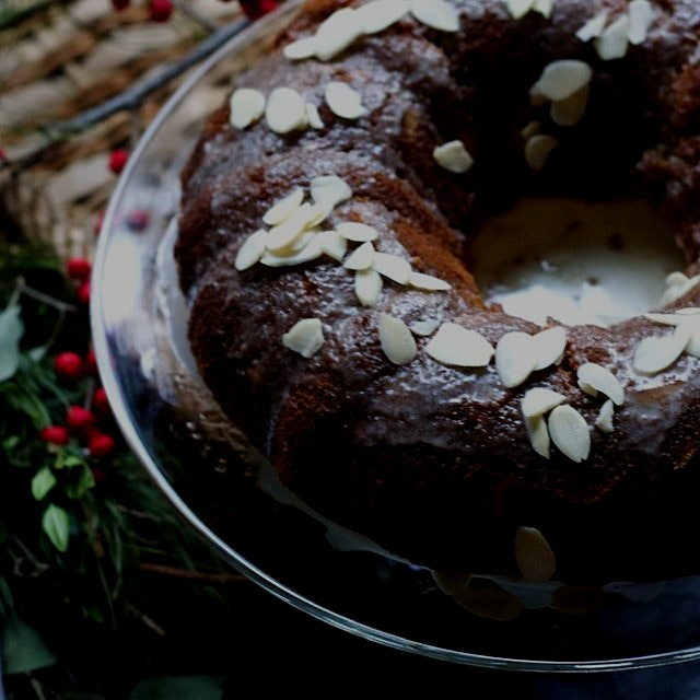 Gluten-free cranberry almond cake inspired by Capricorn season. Nutty, sweet, tart- a serious com...
