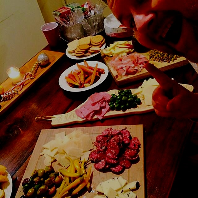 Holiday Party spread Daan was pretty excited about last week #foodpeeps