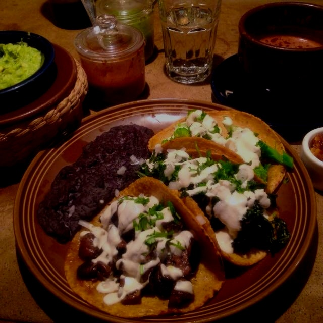 Best Mexican meal I have ever had. Authentic but clean. Organic. Tacos. Vegan. Hot sauce is out o...