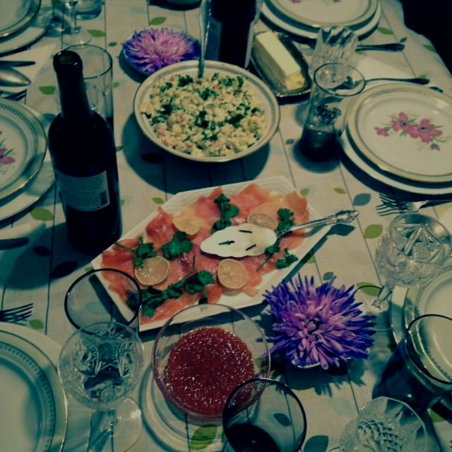Caviar and other tasty treats. #russian dinner