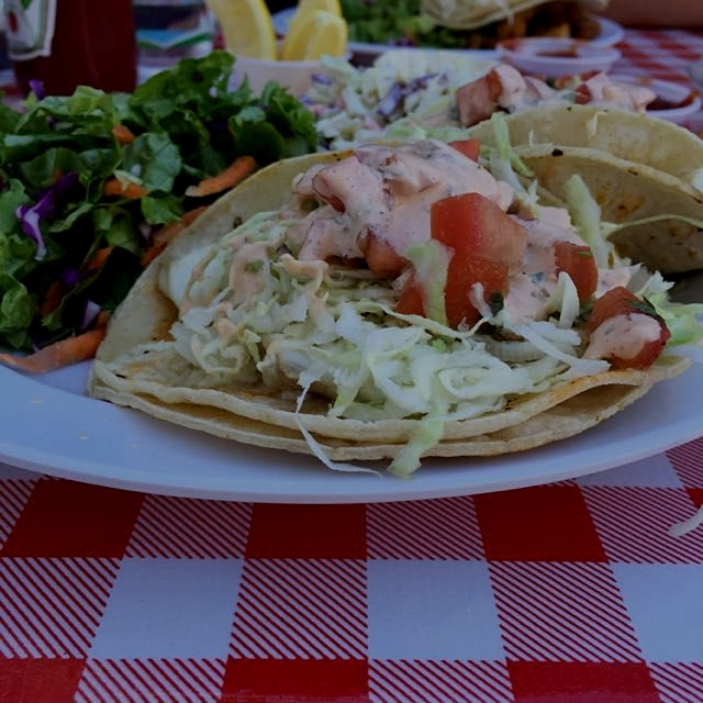 I'm ready for my close-up: grilled fish taco.