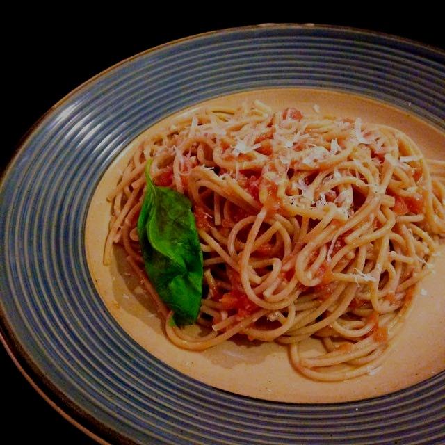 Spaghetti a la Scarpetta.